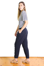 BACETTA COTTON PANTS IN NAVY