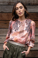 BAYVIEW BLOUSE IN PAISLEY LINEN