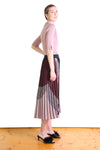 BETTY PLEATED SKIRT IN WINE