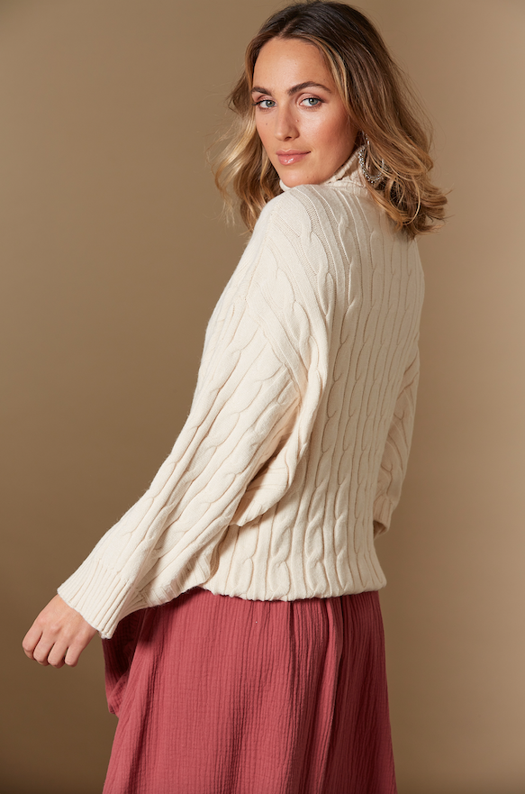 CLARITY CABLE KNIT IN CREME