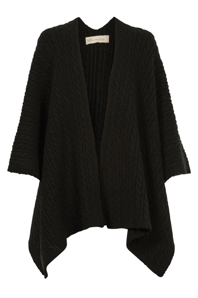 COZY THROW IN BLACK