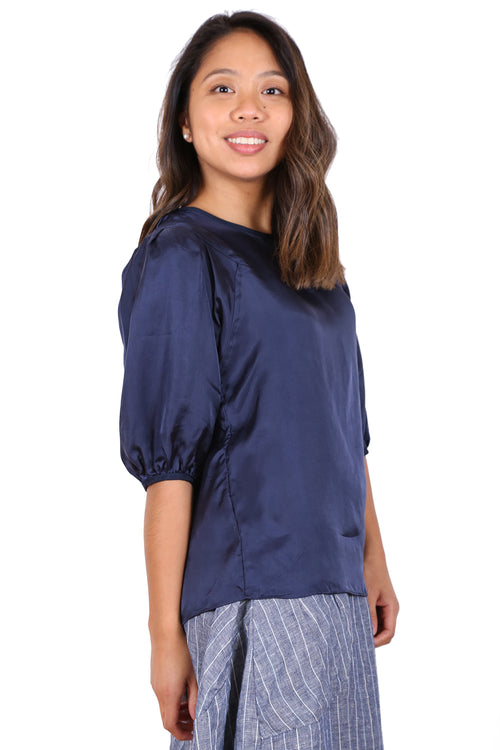 COTTESLOE BLOUSE IN NAVY