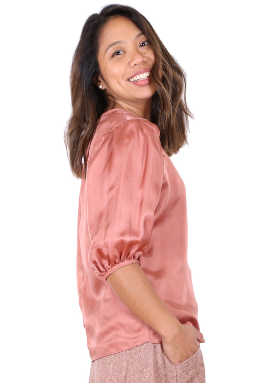 COTTESLOE BLOUSE IN SALMON