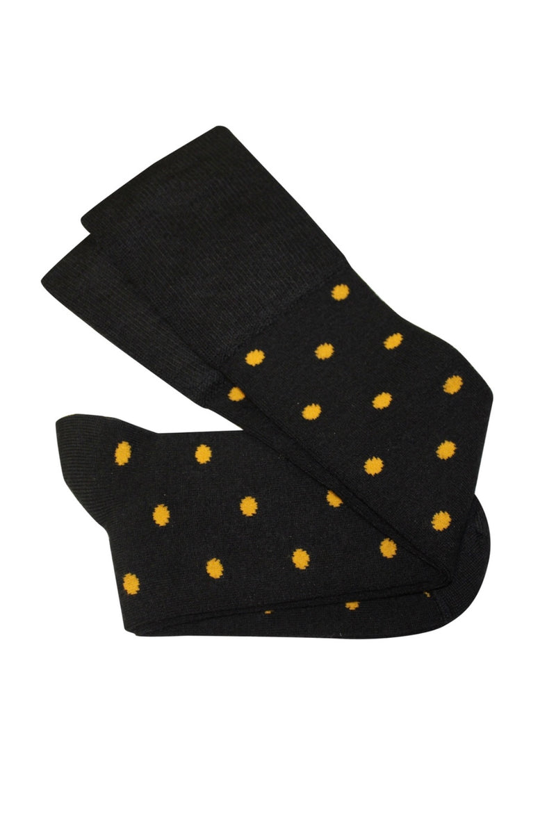 DOTTY SOCKS IN MUSTARD