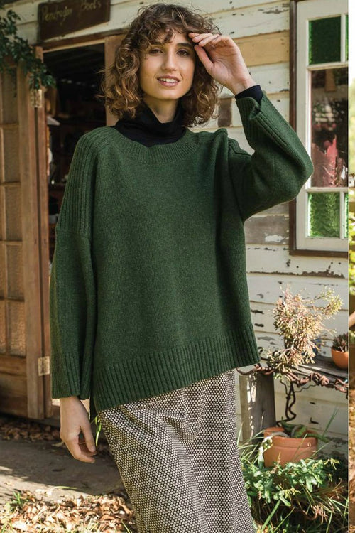 DREAMS JUMPER IN MOSS