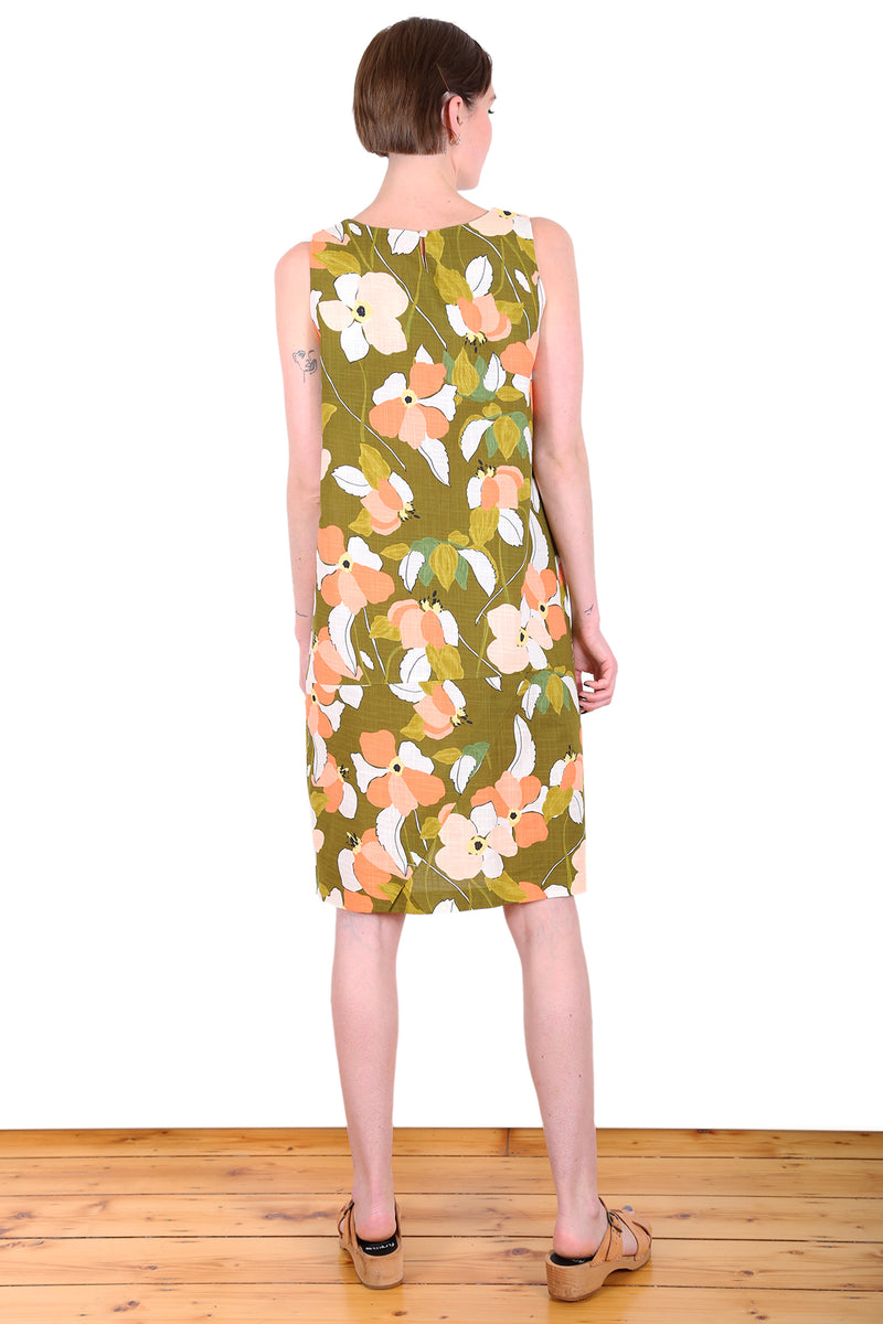 DAINTREE SLEEVELESS SHIFT DRESS