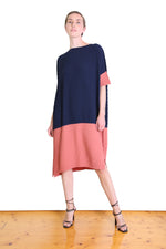 DEPARTURE DRESS IN SALMON
