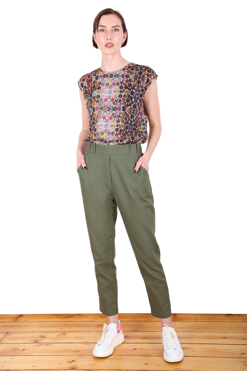 DEVONPORT PANTS IN MOSS