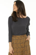 EOZ BLOUSE IN CHARCOAL