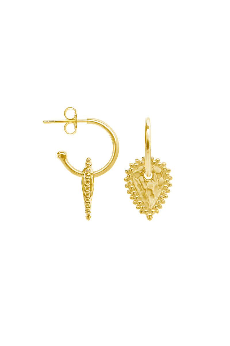 ESCAPE SMALL HOOP EARRINGS IN 18KT YELLOW GOLD PLATE