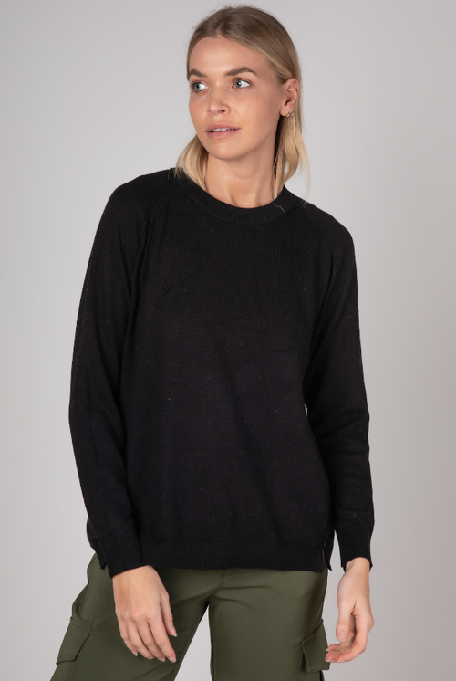 ESSENTIAL CREW NECK IN BLACK