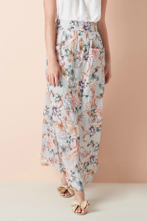 EVELYN SKIRT IN ORIENTAL FLORAL