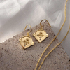 HOPE EARRINGS WITH WHITE TOPAZ IN 18 KT YELLOW GOLD PLATE