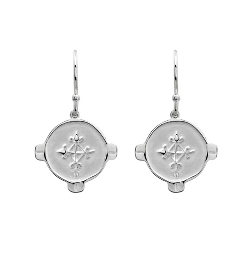 HOPE EARRINGS WITH WHITE TOPAZ IN STERLING SILVER