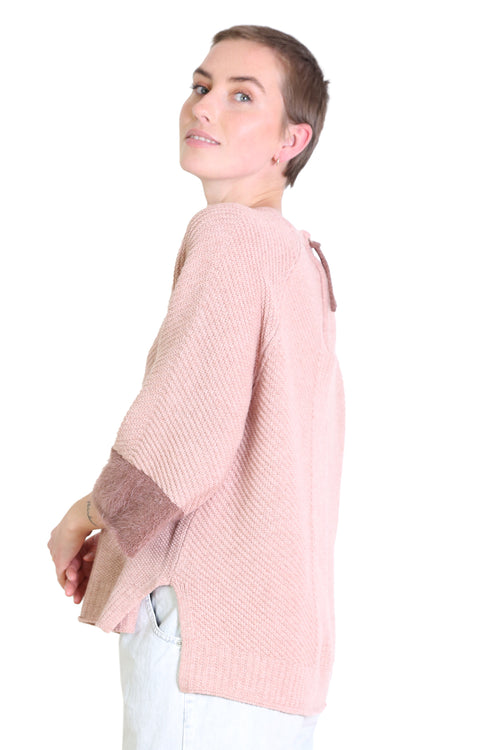 IDAHO WOOL SWEATER IN PINK