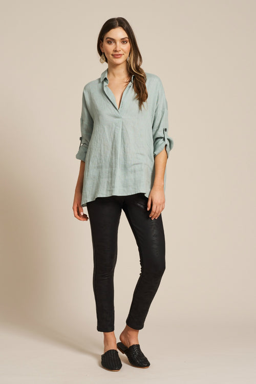 JACINDA SHIRT IN SAGE