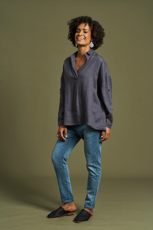 JACINDA SHIRT IN SLATE