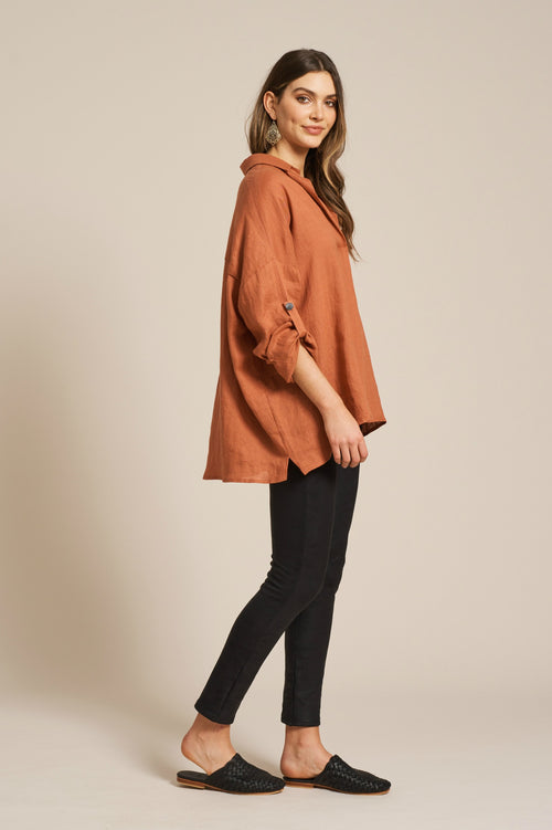 JACINDA SHIRT IN TERRACOTTA