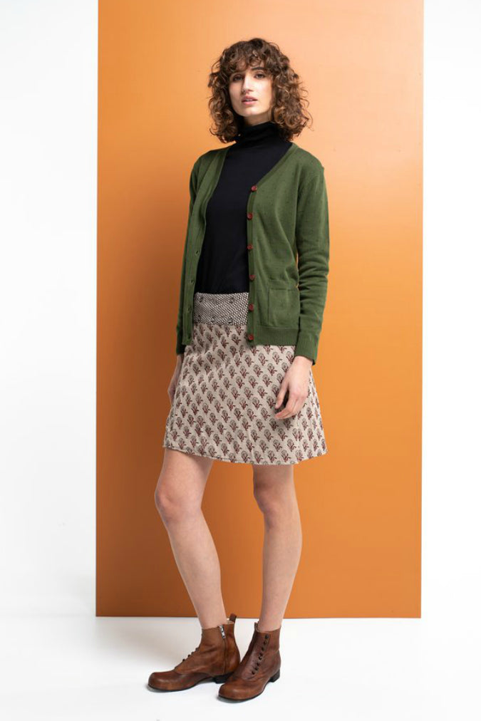 LORELL CARDIGAN IN MOSS