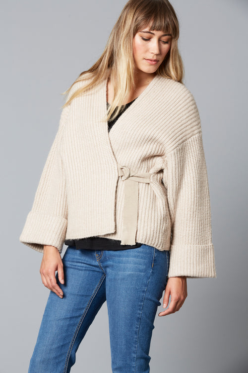 LOVED UP CARDIGAN IN IVORY