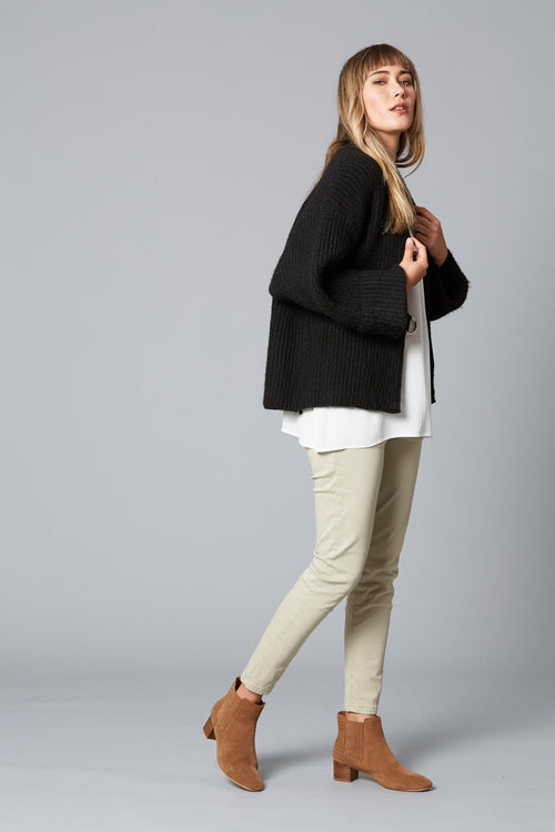 LOVED UP CARDIGAN IN BLACK