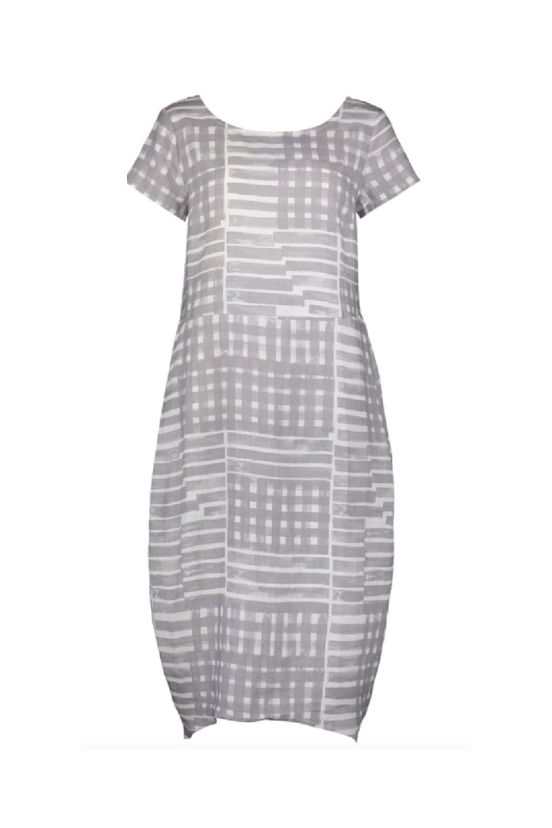 LOW IS KEY LINEN DRESS IN CROSS NICKEL