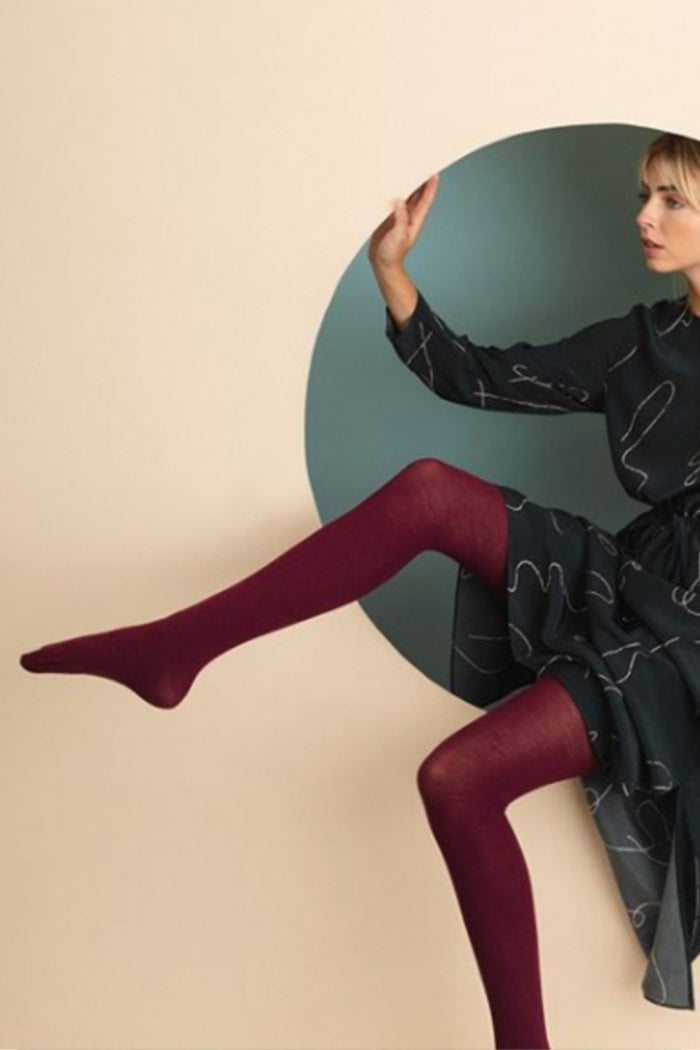 LUXE TIGHTS IN MAROON