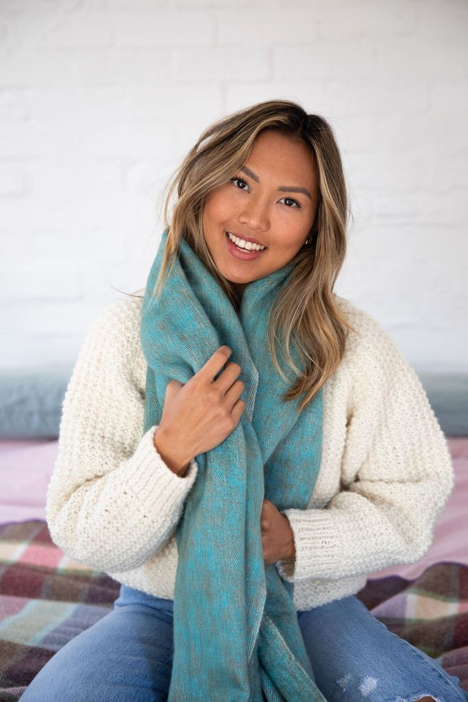 LYRICA SCARF IN MARINE