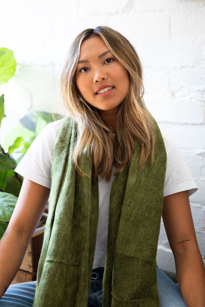 LYRICA SCARF IN MOSS