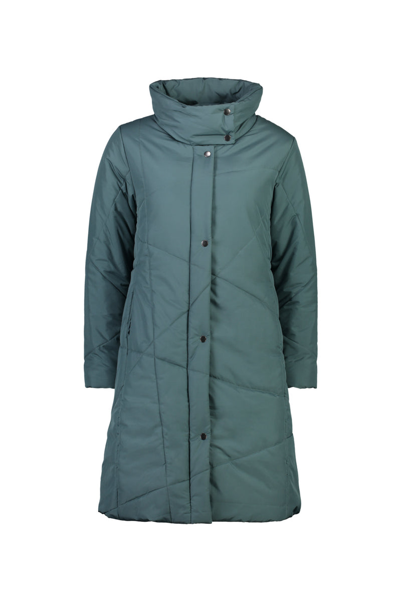 MAJOR TOM PUFFER JACKET IN WASHED TEAL