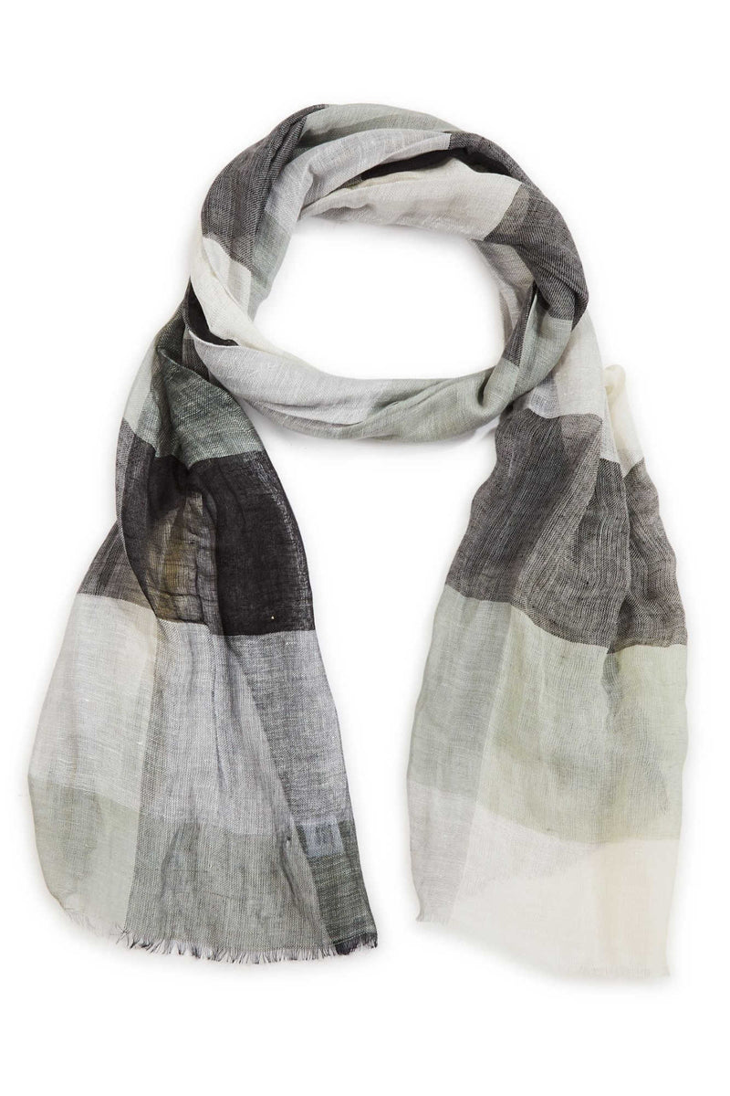MELANIE LINEN SCARF IN GREY