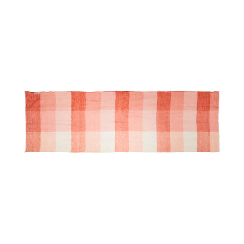 MELANIE LINEN SCARF IN CORAL