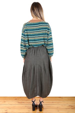 MILWAUKEE CALEDONIA LINEN SKIRT IN GREEN