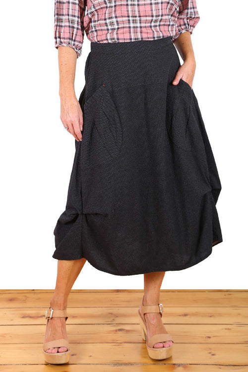 MILWAUKEE RAINDROPS SKIRT IN BLACK