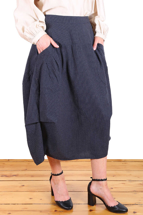 MILWAUKEE RAINDROPS SKIRT IN NAVY
