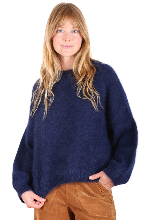 MONTREAL ANGORA KNIT IN NAVY