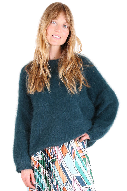 MONTREAL ANGORA KNIT IN TEAL
