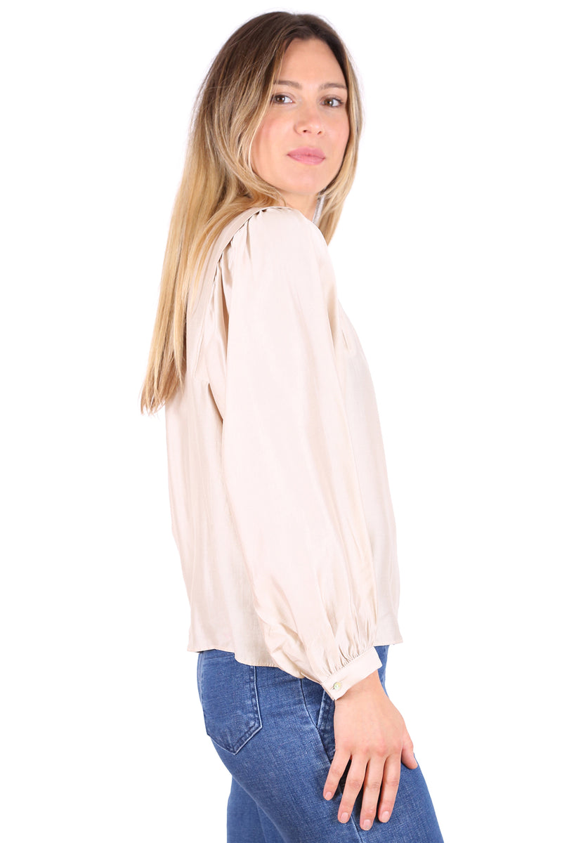 MOONSTONE BLOUSE IN IVORY