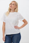 NADINE BRODERIE TOP IN WHITE