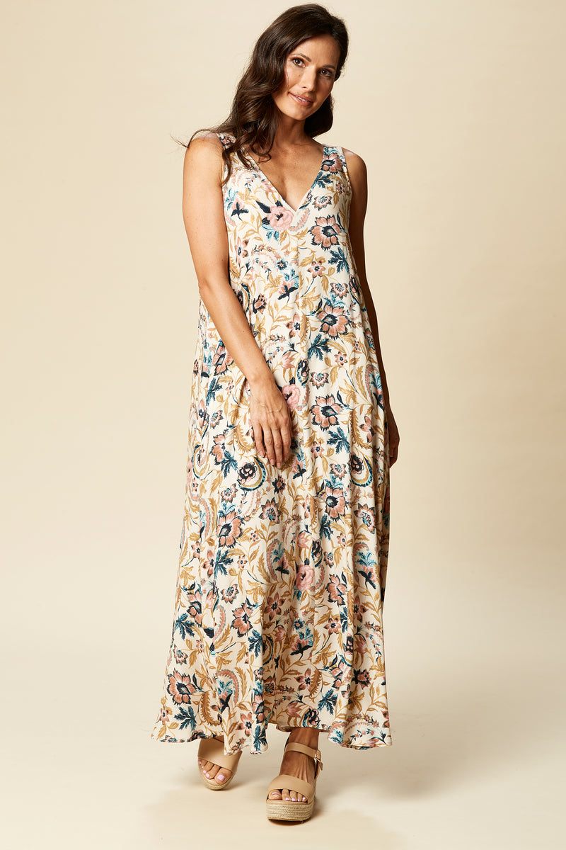 OHANA MAXI IN BUFF BOTANICAL