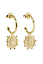 PROTECT EARRINGS IN 18KT YELLOW GOLD PLATE