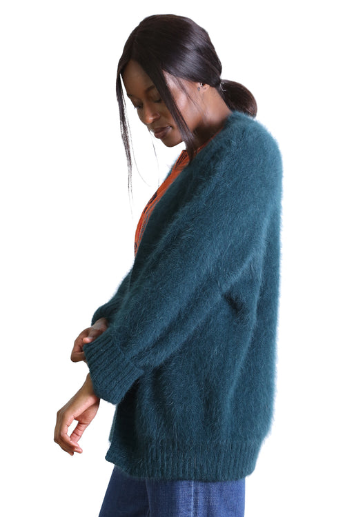 PHOENIX CARDIGAN IN TEAL
