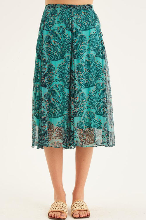 RAAS SKIRT IN ALOHA GREEN