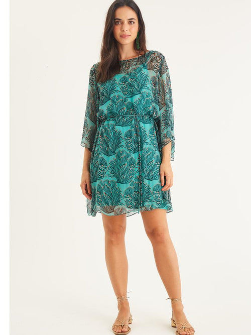 RANGIROA DRESS IN ALOHA GREEN