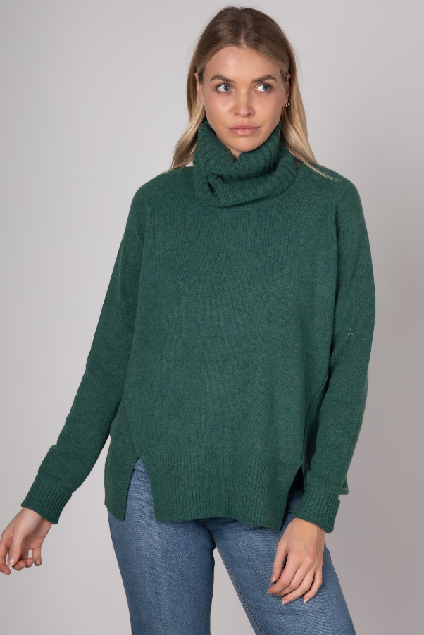 RELAXED KNIT & SNOOD IN PINE