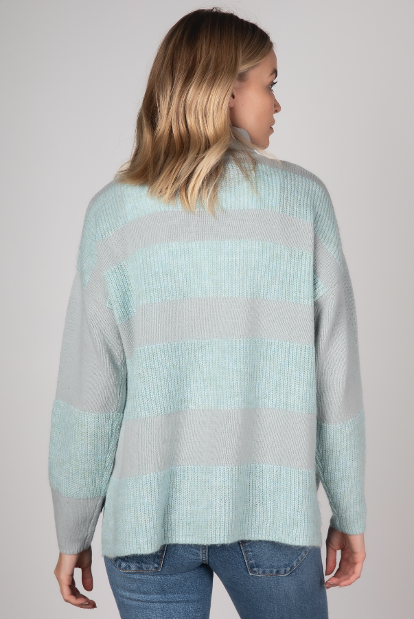 RIB DETAIL KNIT IN MIST
