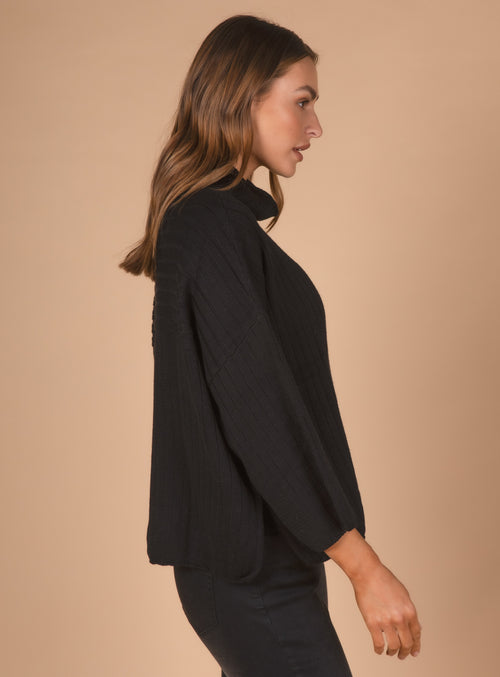 RIB KNIT IN BLACK