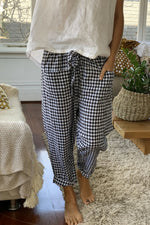 RUBY PANT IN BLACK GINGHAM