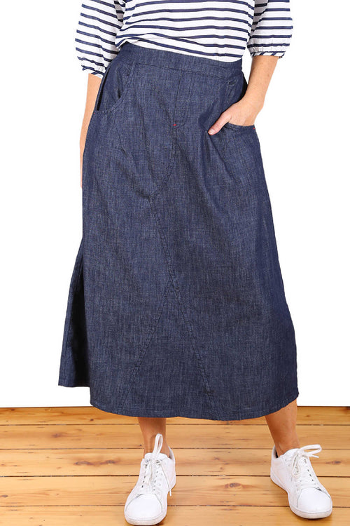 ROAD TRIPPING DENIM SKIRT