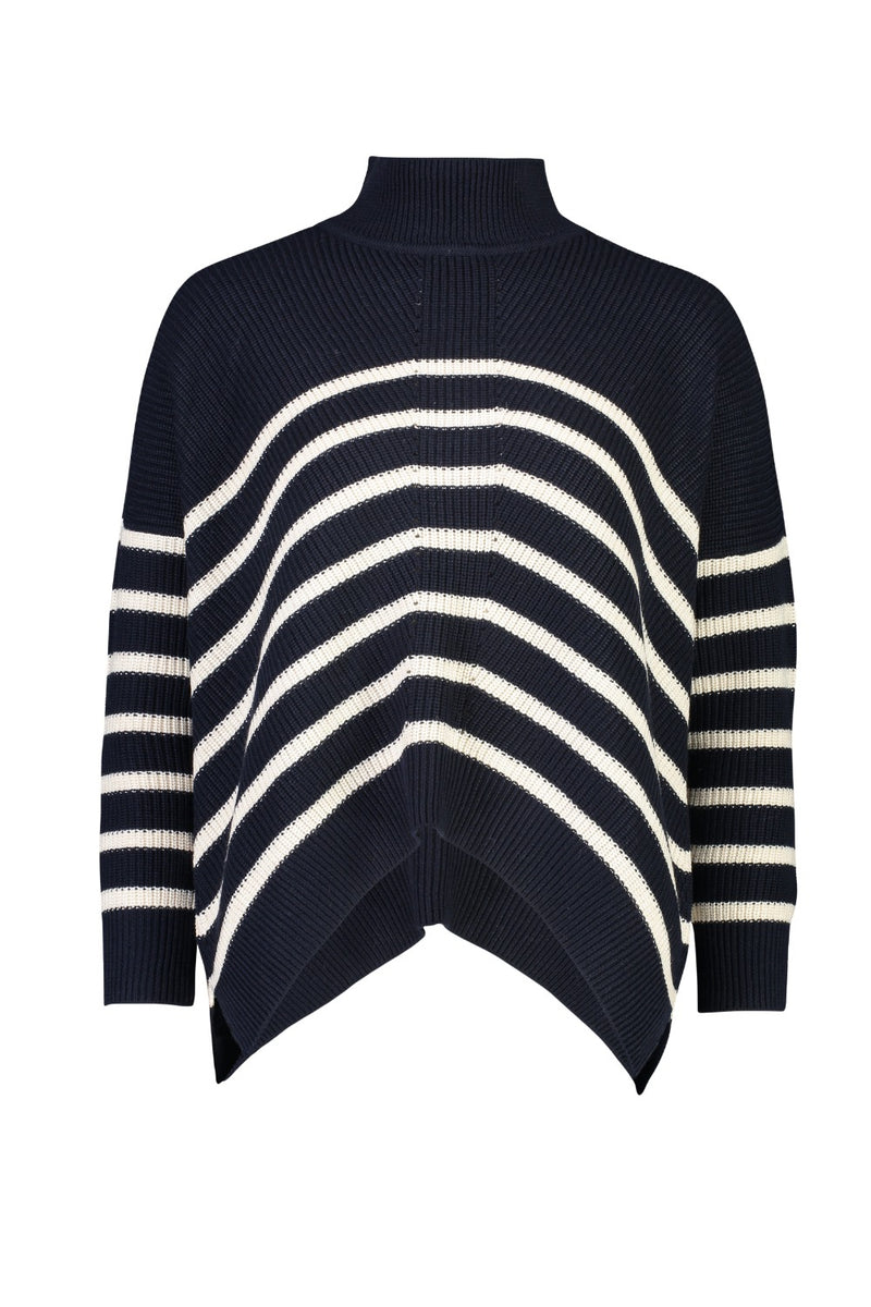 SAIL SIGNS SWEATER IN HONEY NAVY